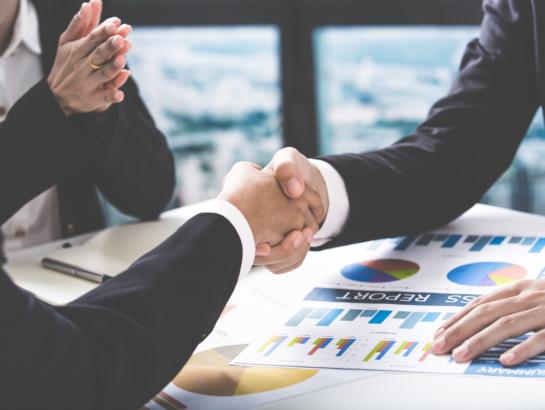 Business handshake people