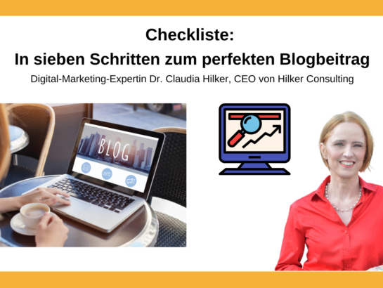 Checkliste Blog