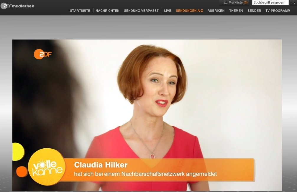 Claudia Hilker Foto ZDF VolleKanne Soziale Netzwerke Nebenan 3