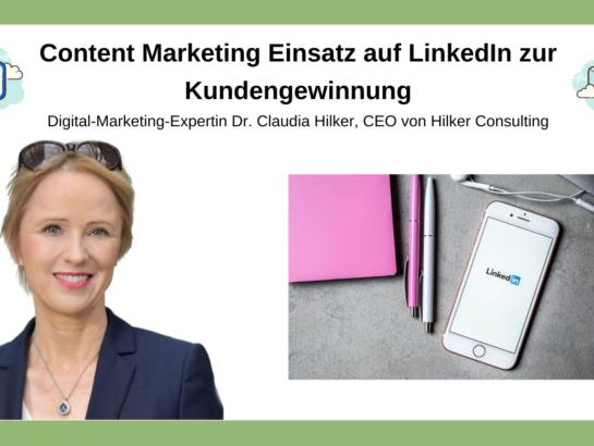 Content Einsatz LinkedIn