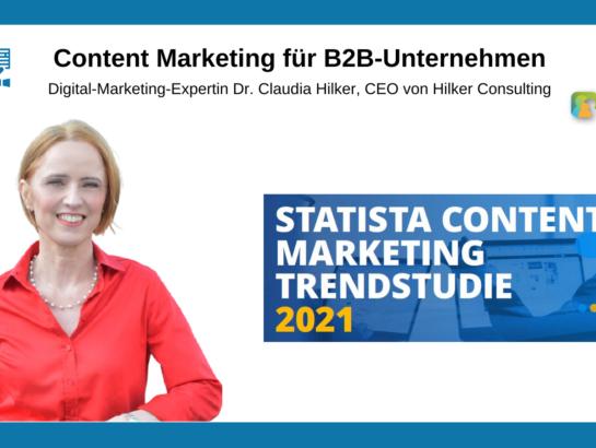 Trendstudie Ergebnis Content Marketing Beitragsbild
