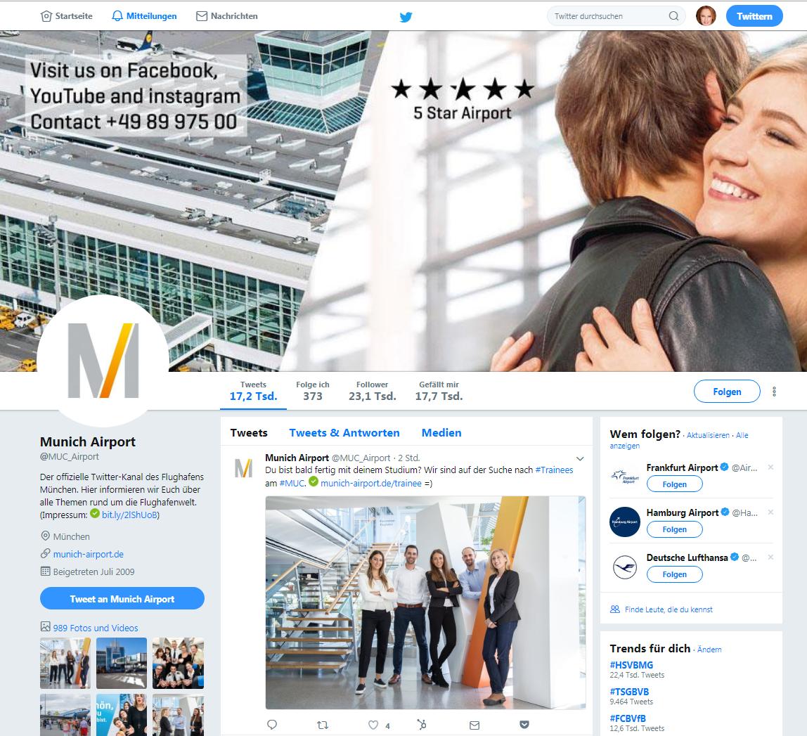 Content Marketing_Flughafen München_Twitter_Claudia Hilker