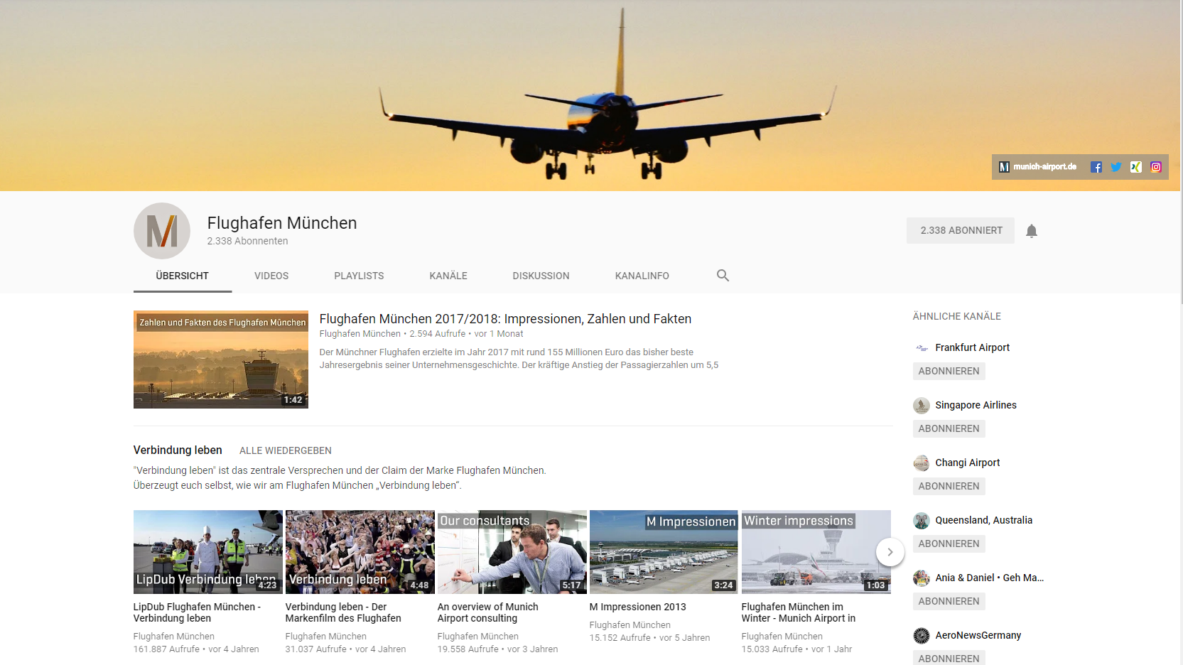 Content Marketing_Flughafen München_Youtube_Claudia Hilker
