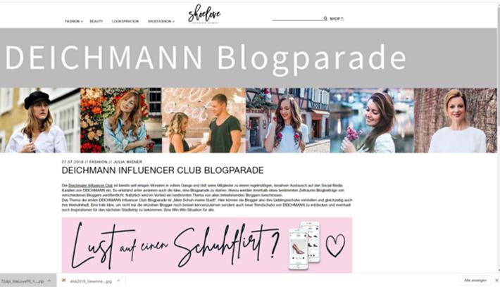 Deichmann Blog Influencer Kampagne