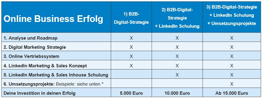 Online Business Erfolg für B2B-Unternehmen