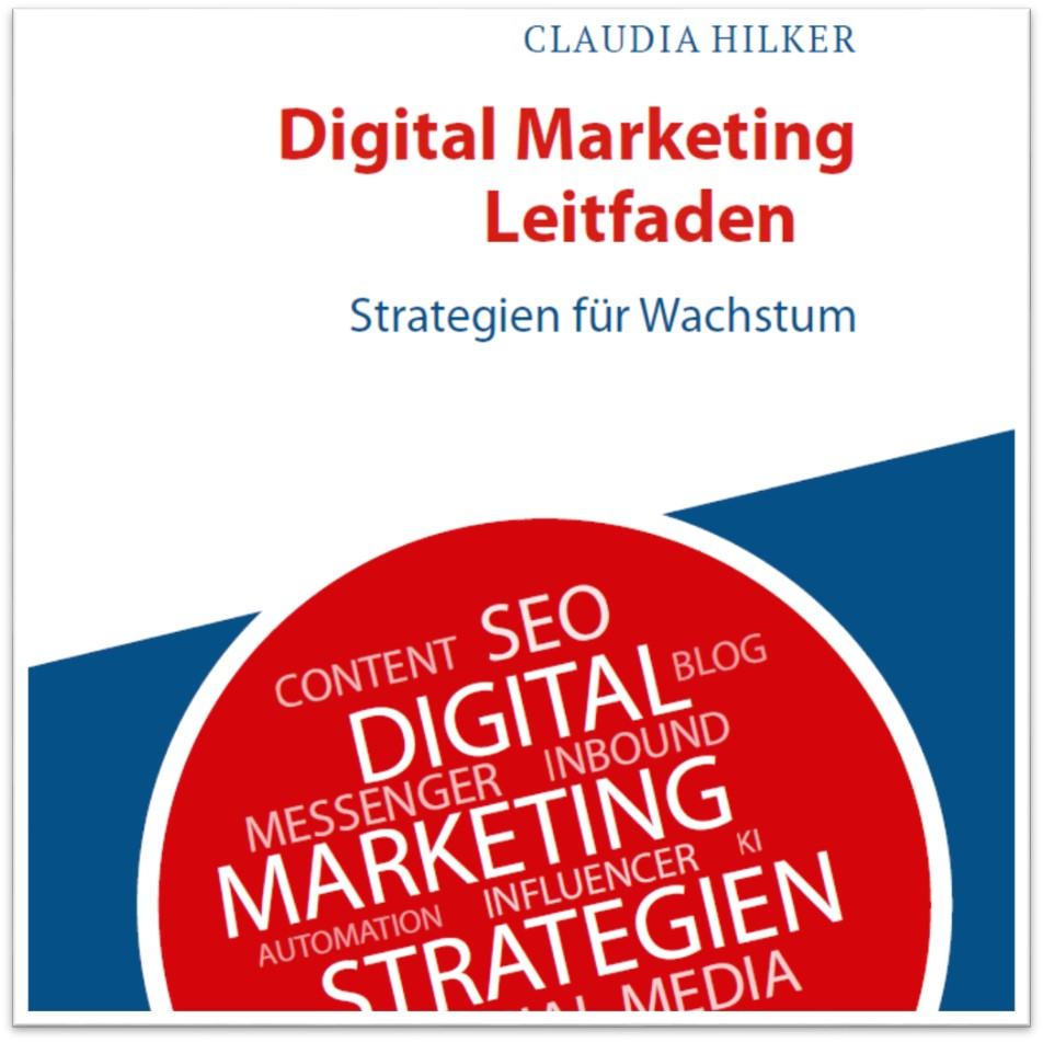 Digital Marketing Leitfaden_Claudia Hilker_Buch Cover_Instagram Schatten