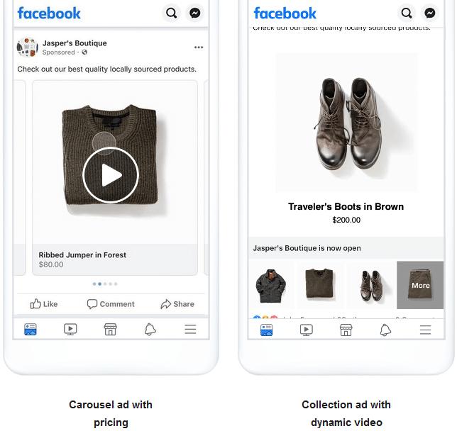 Möglichkeiten der dynamischen Facebook-Anzeigen