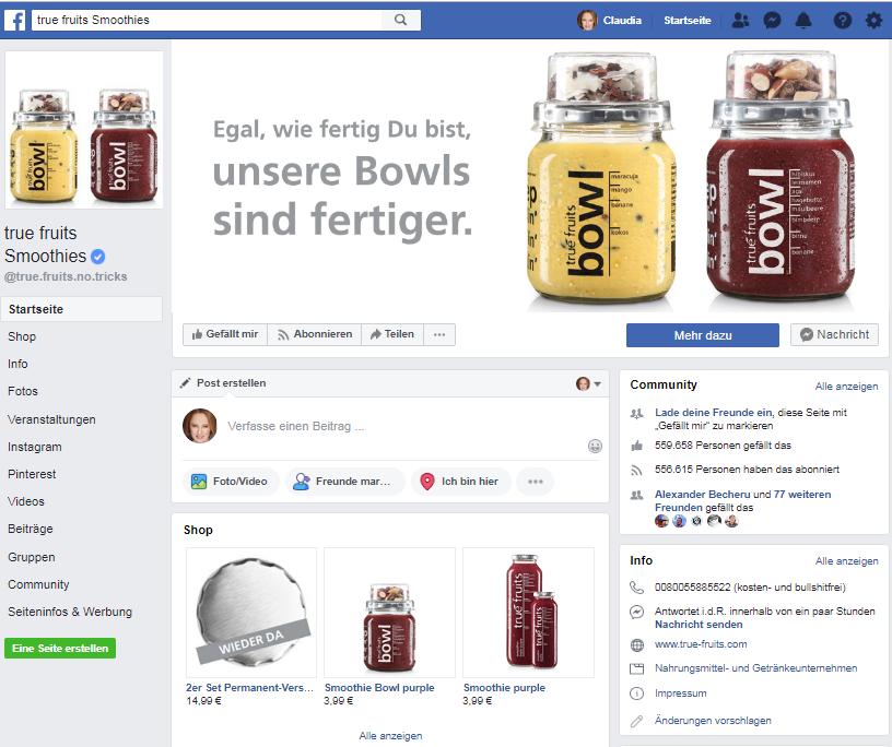 Facebook True fruits: Social-Media-Marketing Best-Practice-Beispiele