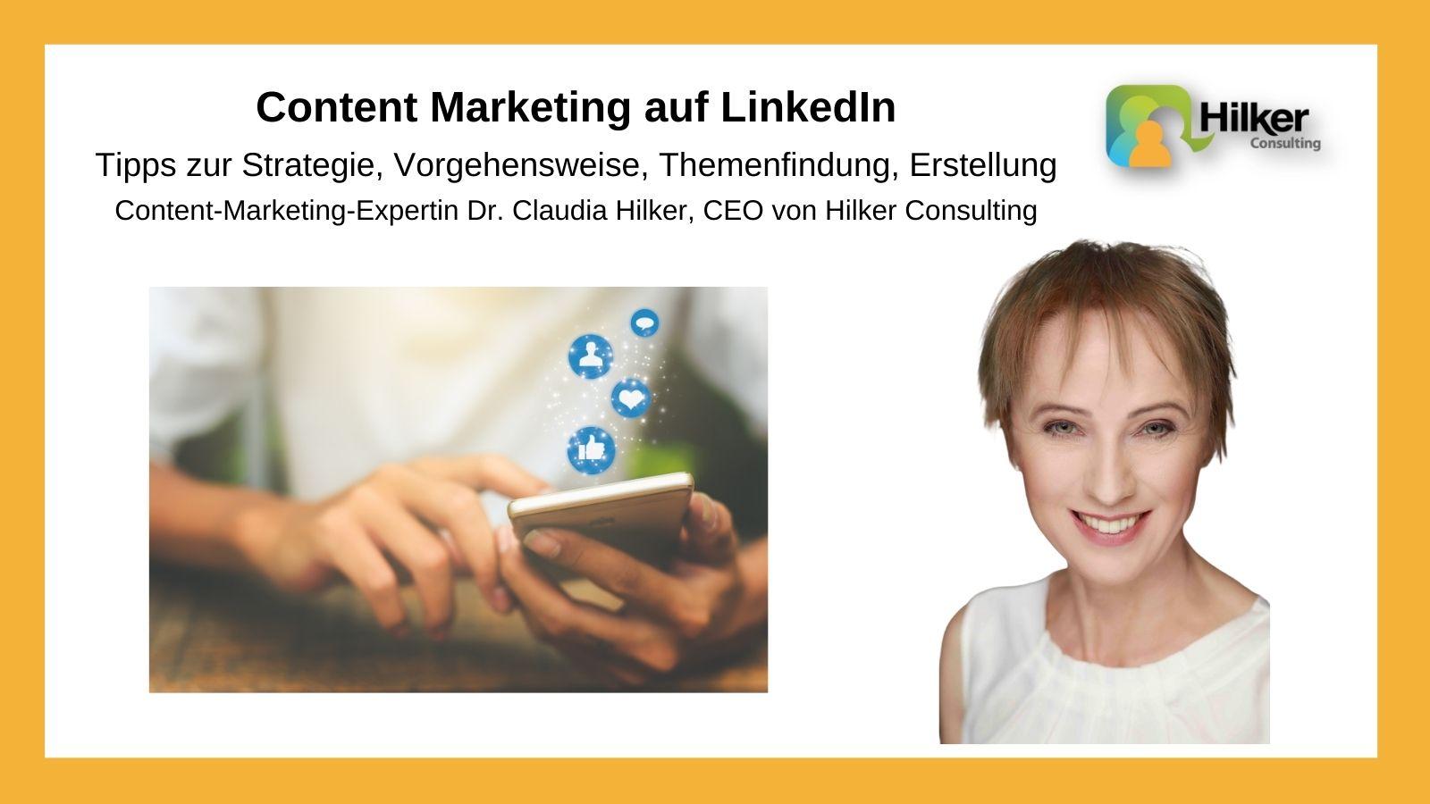 Content Marketing auf LinkedIn Tipps Blogbeitrag