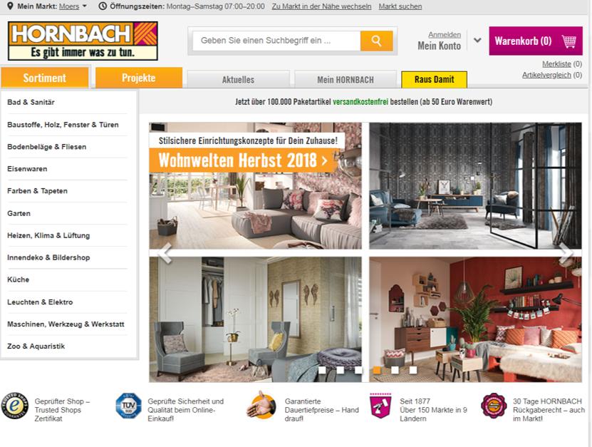 Hornbach Website_Content Marketing