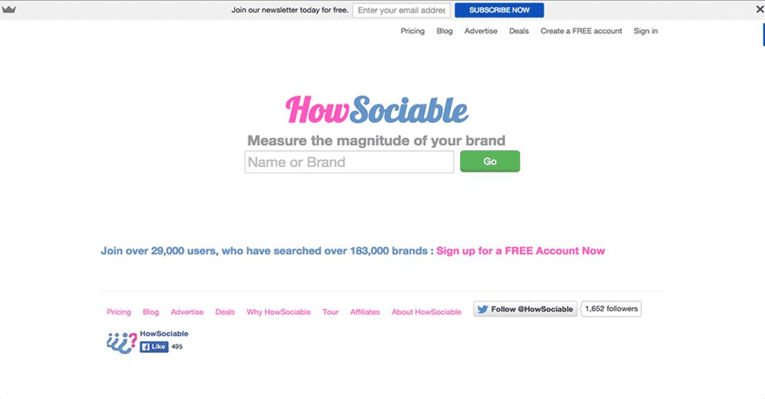 HowSociable Social Media Tool