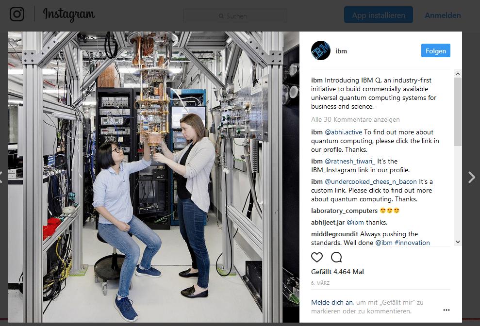 Instagram beliebteste Marken IBM