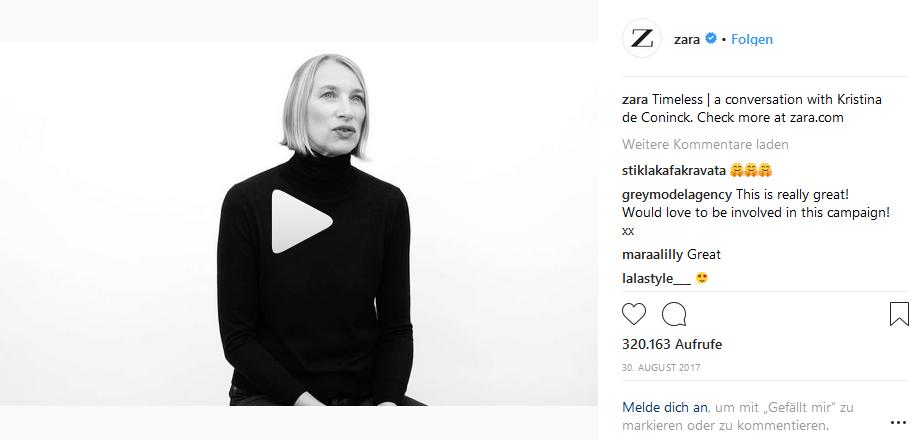 Instagram Zara Fashion Marketing