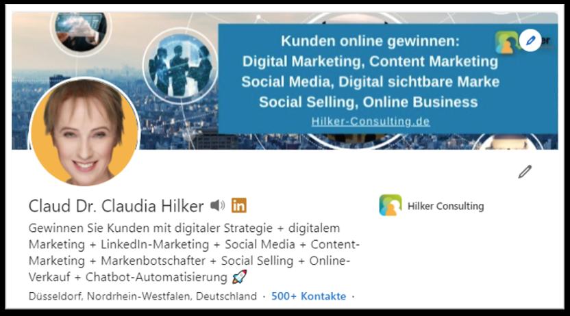 LinkedIn Profil Hilker