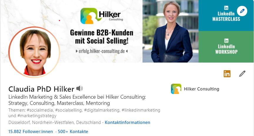 Claudia Hilker_LinkedIn Profil