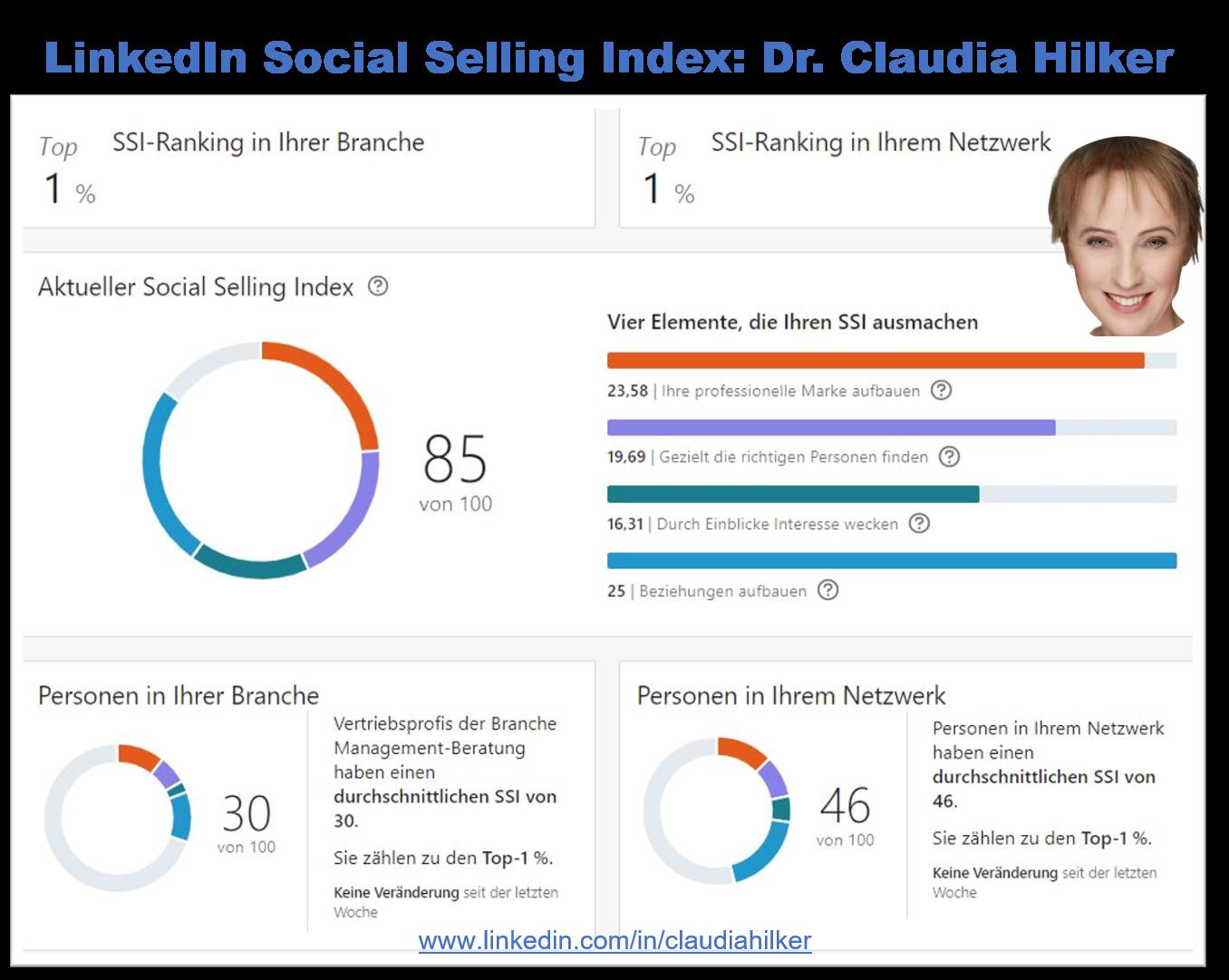 LinkedIn SSI_Social Selling Index_Claudia Hilker