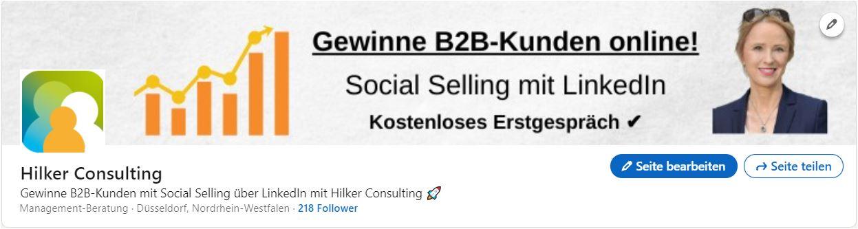 Hilker Consulting_LinkedIn Unternehmensseite