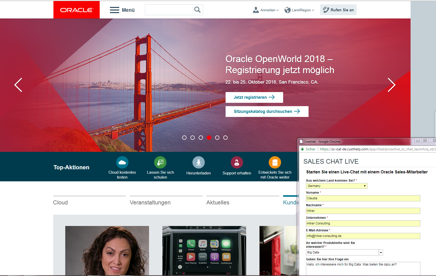 Oracle Website_Content Hub