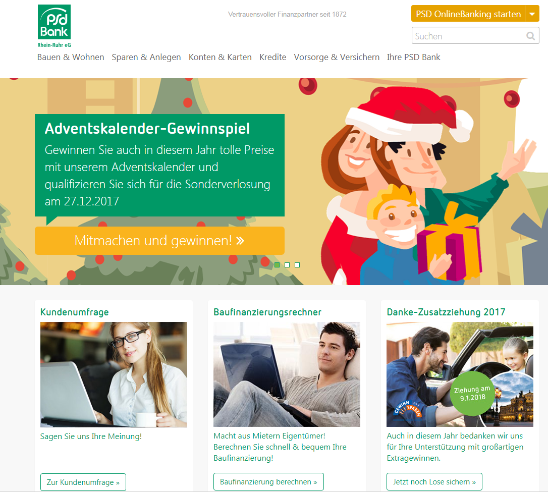 Content Marketing Beispiel PSD Banken