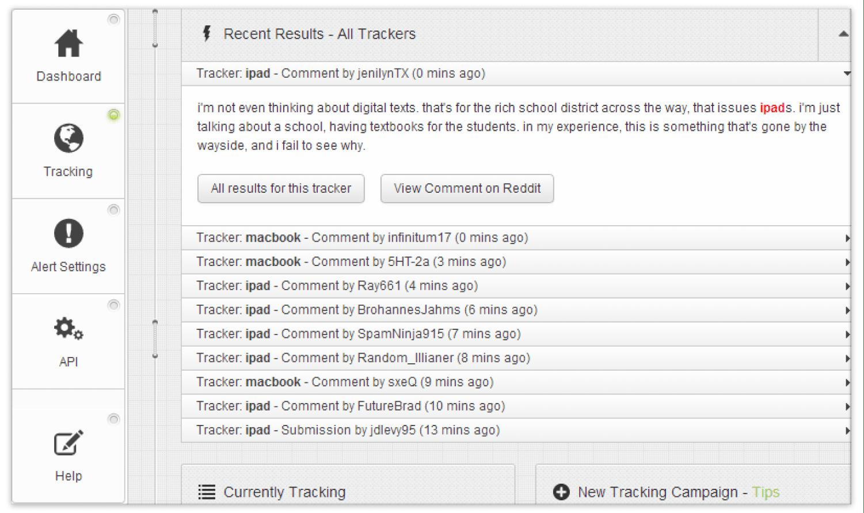 Reddit Keyword Monitor Social Media Monitoring Tool