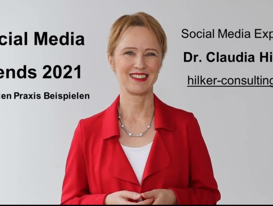 Social Media Trends 2021 Claudia Hilker