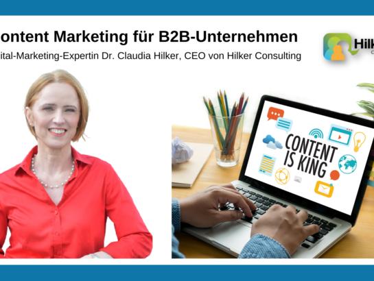 Content Marketing für B2B Unternehmen