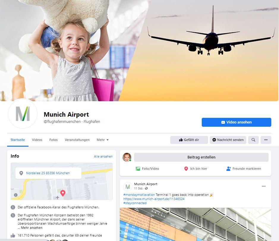 Flughafen München Facebook