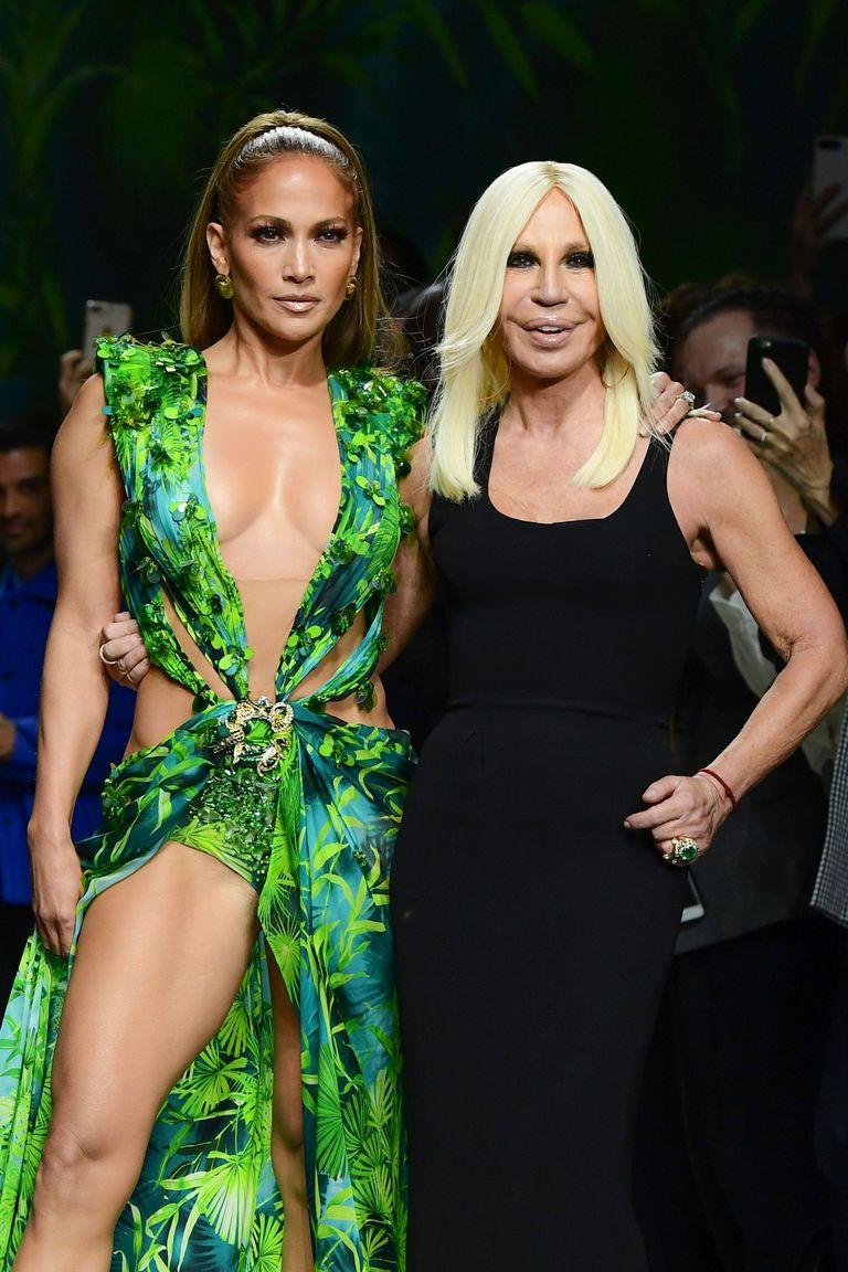 versace green kleid